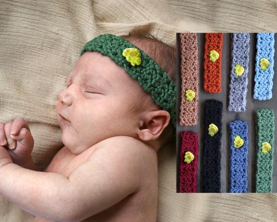 Baby Crochet Headband   Gender Neutral Baby Accessory   Turtle  7f90d33b722