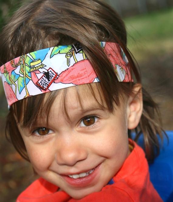 Flamingo Stirnband für Jungen / junge Bandana Haarband / | Etsy