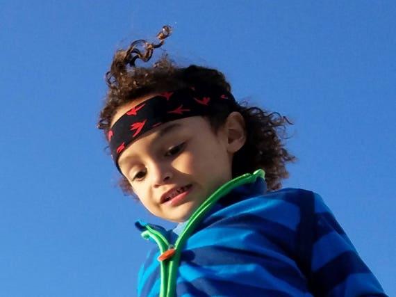 Junge Haarband Stirnband Für Lange Haare Jungen Rot Vogel Etsy