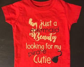 Just a Mermaid Beauty, Pirates & Mermaids, Toddler Tshirts, Baby Tshirts, Birthday Shirts, Custom Tshirts