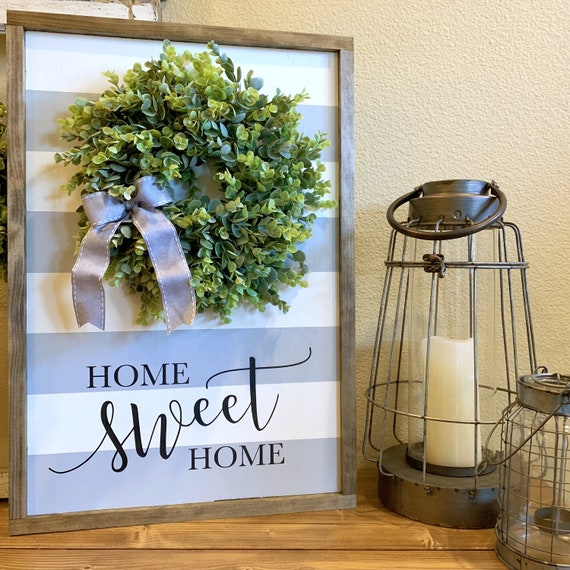 Farmhouse Sign with Wreath