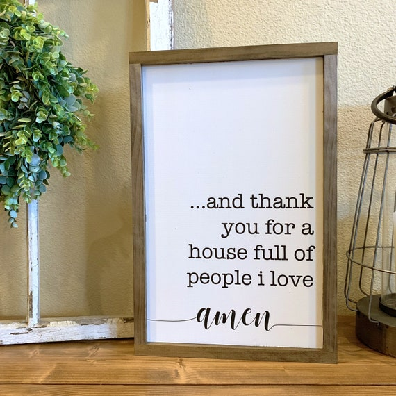 House Full Of People I Love Farmhouse Sign