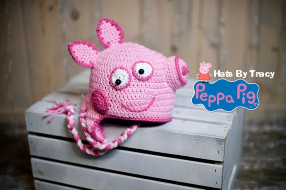 6aa3a2149f4 Peppa Pig Crochet Hat Inspired by Peppa Pig PATTERN ONLY