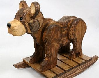 1fa7319da Wooden rocking horse