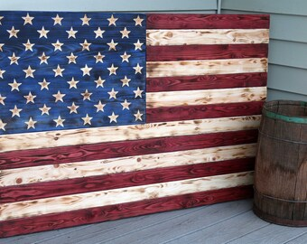 69374bdaf57a Large Wooden American Flag