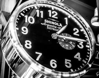 8x10 Shinola Clock in Detroit's Eastern Market Photo