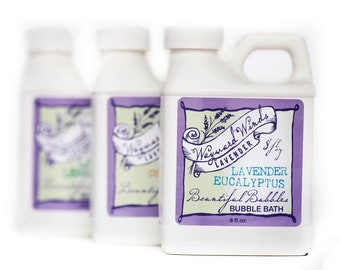 Lavender Bubble Bath | lavender, lavender eucalyptus, lavender chamomile