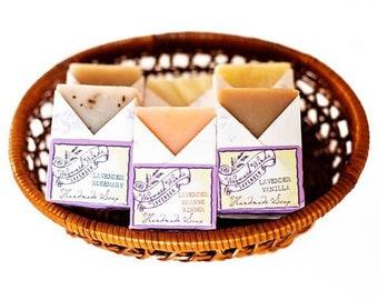 Lavender Soap Bar Bundles | 14 Scent Options, Mix and Match, Soap Gift Set, Party Favors