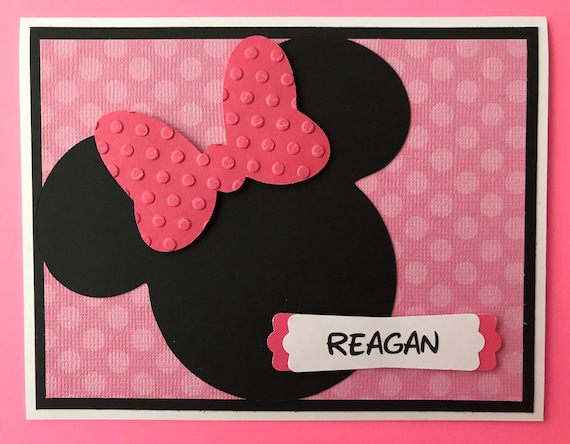 Personalized Handmade Minnie Mouse Birthday Card Etsy