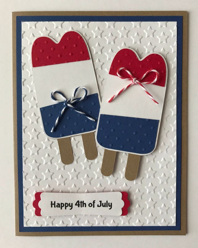 Handmade 4th of July Card, Let Freedom Ring, Red White & Blue, Independents Day