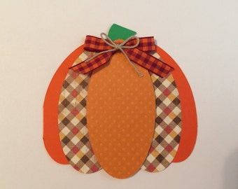 Handmade Thanksgiving Pumpkin Card