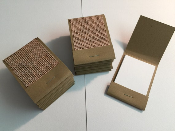20 Matchbook Notepads Favors