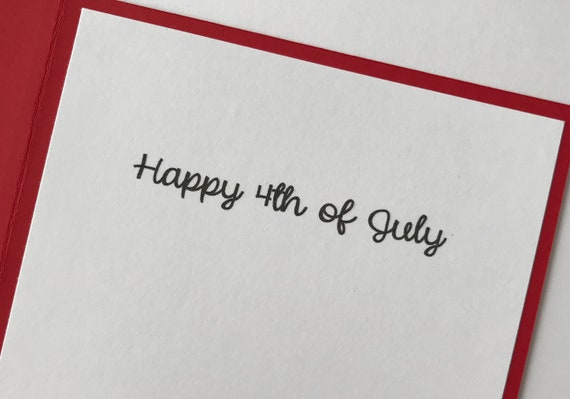 Handmade 4th Of July A2 Card America The Beautiful Red White Blue Patriotic Usa Happy Fourth Of July Independence Day