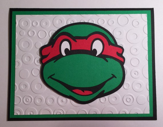 Handmade Teenage Mutant Ninja Turtle Birthday Card Ninja Etsy