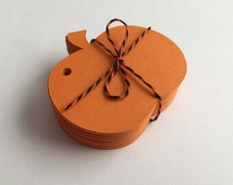 50 Pumpkin Tags, Card Making, Scrapbooking, Gift Tags