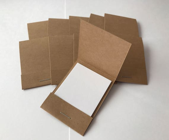 100 Matchbook Notepads Favors