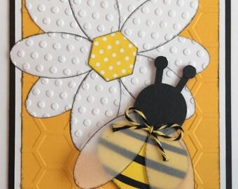 "Handmade ""Bee Friendship"" Card"