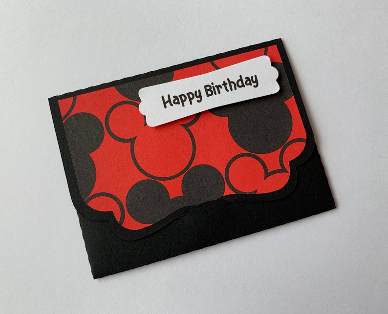 Handmade Mickey Mouse Birthday Gift Card Holder