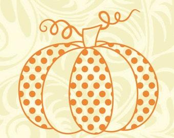 Polka Dot And Chevron Pumpkin Svg Ai Dxf Cdr Eps Jpeg Etsy