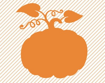 Instant Download Pumpkin Silhouette Clipart - svg -dxf -cdr -eps -png - pdf - Iron on Transfer - Cricut file -Vinyl Cutting -Laser Engraving