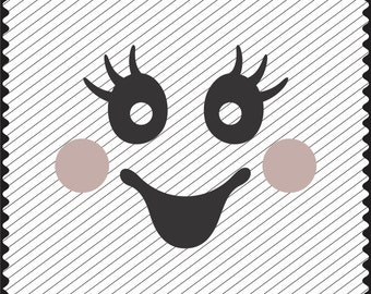 photograph about Printable Ghost Faces named Ghost deal with svg Etsy