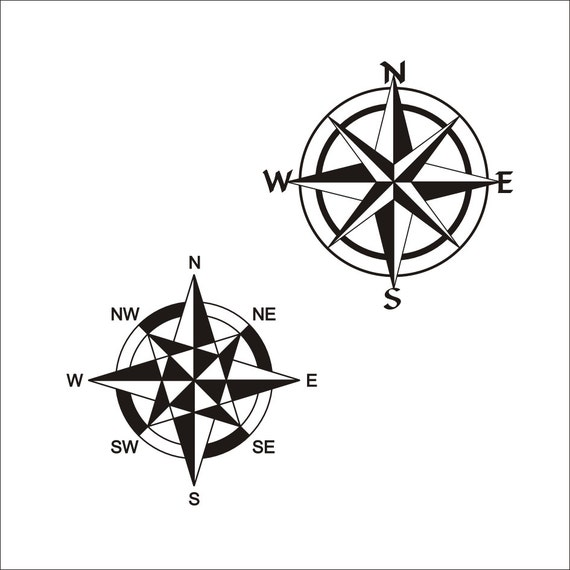 image about Picture of a Compass Rose Printable identified as Comp Rose SVG Printable Clipart Iron upon Go Vinyl Reducing Laser Engraving, Nautical Clipart