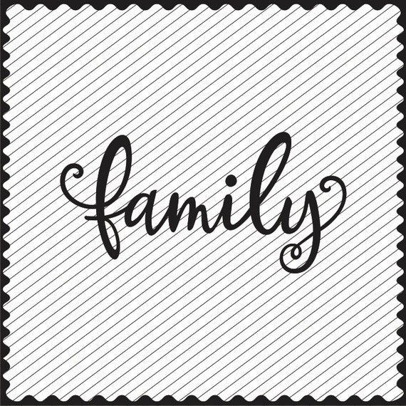 Family Word Design Clipart Family Svg File Dxf File Family