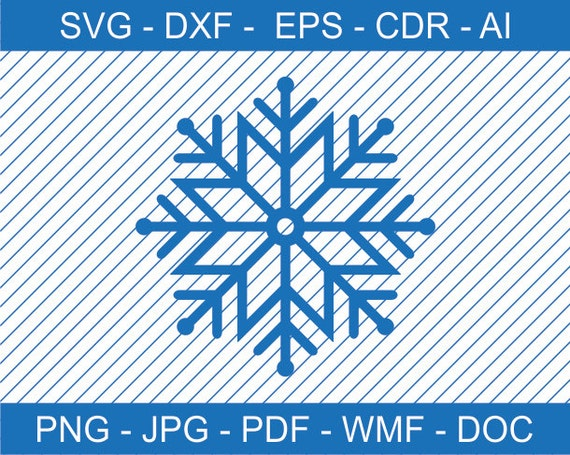 Snowflake Design For Cutting Snowflake Clipart Snowflake Svg Etsy