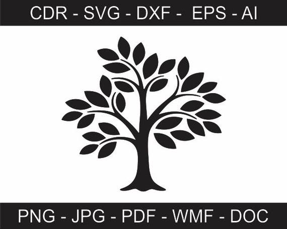 Abstract Tree Vector File Printable Tree Clipart Iron On Transfer Vinyl Cutting Laser Cutting And Engraving Cricut Silhouette
