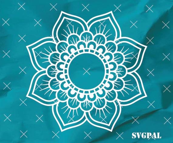 Free Customization Cricut Mandala Monogram Svg Clipart Cameo Etsy