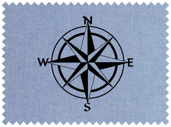 Compass Rose Compass Stencil SVG Clipart Iron on Transfer Cricut Vinyl Cutting Laser Engraving Instant Download