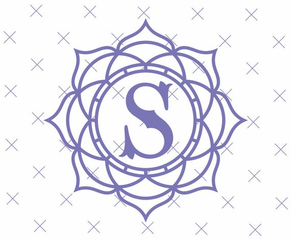 Free Customization Mandala Floral Svg Flower Monogram Border Etsy