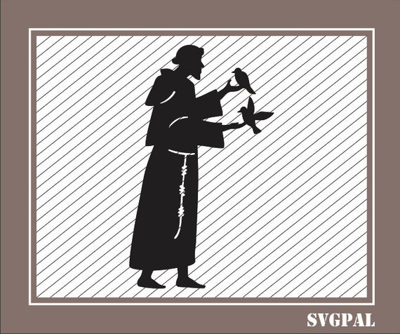 Francis Of Assisi Svg Clipart For Cricut Francis Of Assisi Etsy
