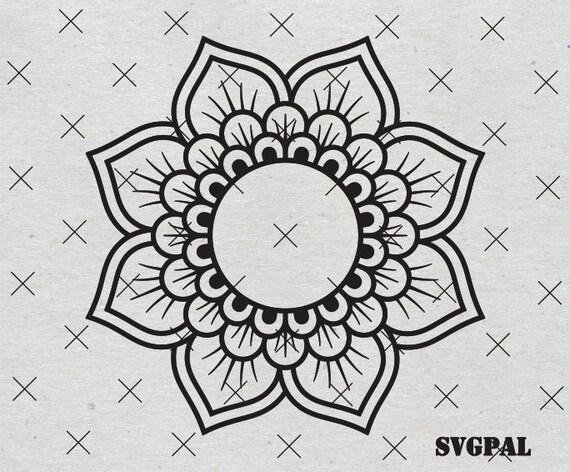 Free Customization Mandala For Monograms Svg Flower Monogram Etsy