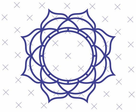 Free Customization Mandala Border Monogram Clipart Mandala Etsy