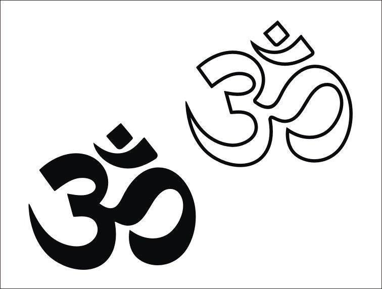 Svg Om Wall Art Clipart Svg Yoga Om Iron On Transfer Spiritual