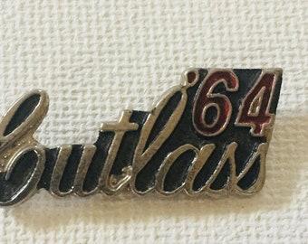 Vintage 1964 Oldsmobile 442 Hat Lapel Pin