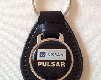 Nissan Pulsar Keychain Black Leather Key Chain