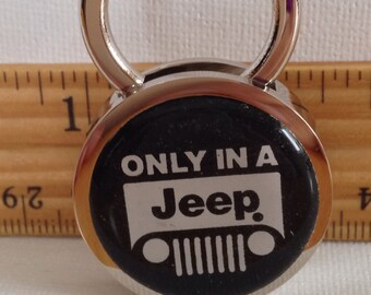 Jeep Keychain Solid Brass Personalized Free Chrome Plated
