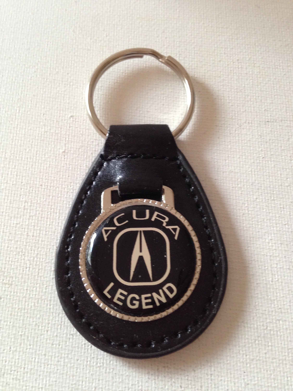 Acura Legend Keychain Black Leather Key Etsy - Acura keychain