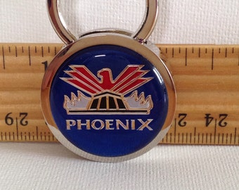 Phoenix Keychain Solid Brass Personalized Free Chrome Plated