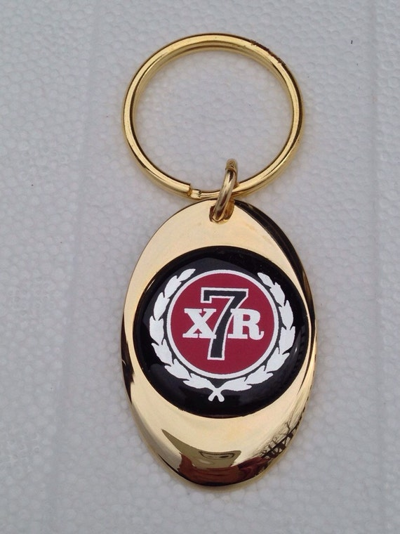 Mercury Cougar Xr7 Keychain Solid Brass Gold Plated Key Chain Etsy