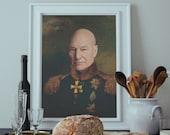 Jean Luc Picard Painting Portrait - A Star Trek TNG Inspired A2 A3 A4 A6 Postcard USA Sizes Art Print