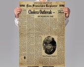 Star Trek TNG Inspired Vintage Prop Newspaper - Time 39 s Arrow - A1 A2 A3 A4 Art Print