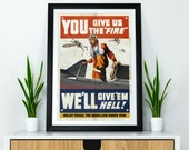 Star Wars Inspired Rebel X-Wings Give 39 em Hell WWII Vintage Propaganda A4 A3 A2 Poster Print