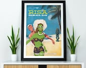 Retro Star Trek Visit Risa Suraya Bay Vintage Look Holiday Vacation A4 A3 A2 A1 Poster Print