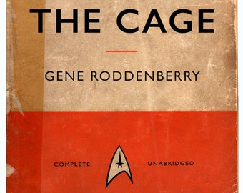 Retro Star Trek Penguin Books style Unabridged Vintage The Cage Novel Book Cover A4 A3 A2 Poster Print