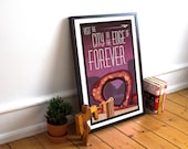 Star Trek TOS Inspired - Visit the City on the Edge of Forever - A4 A3 A2 Poster Print