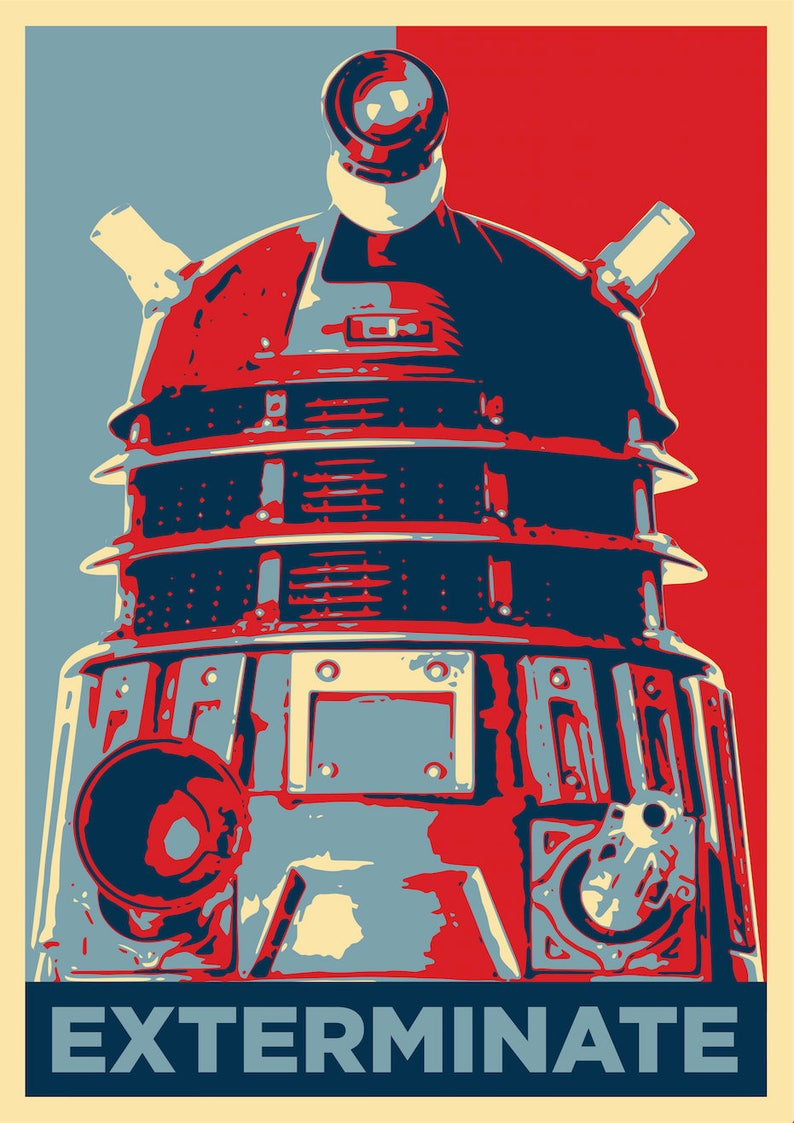 Doctor Who in Star Wars Style Film Canvas Wall Art Movie Poster Print Tardis