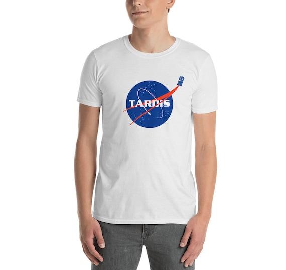 TARDIS NASA Logo T-shirt for Men, White